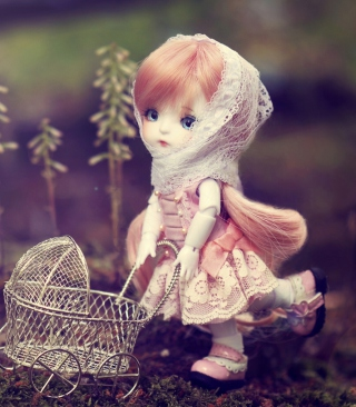 Free Doll With Baby Carriage Picture for 480x800