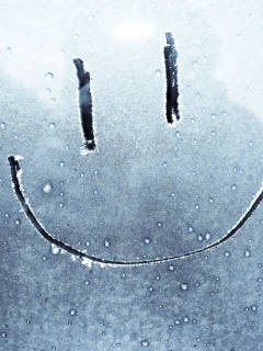 Screenshot №1 pro téma Smiley Face On Frozen Window 240x320