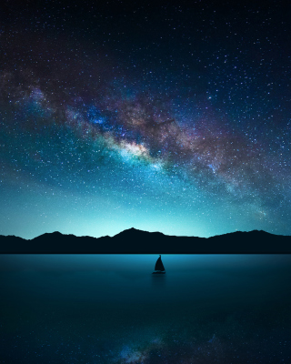 Night Sky with Stars Wallpaper for Nokia Asha 300
