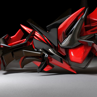 Black And Red 3d Design sfondi gratuiti per iPad