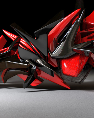 Black And Red 3d Design sfondi gratuiti per iPhone 4S