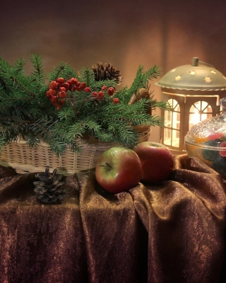 Winter Still Life Background for 640x1136