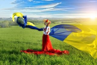 Ukrainian style Background for 1366x768