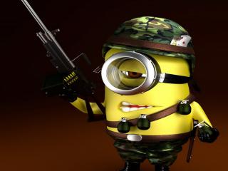 Minion Soldier for Nokia Asha 200