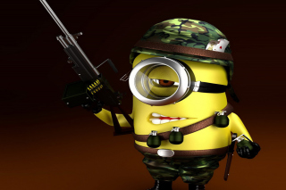 Free Minion Soldier Picture for Android, iPhone and iPad