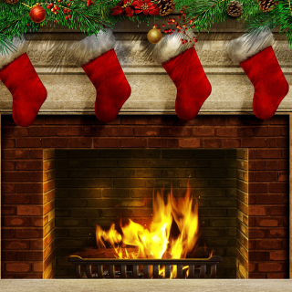 Fireplace And Christmas Socks - Fondos de pantalla gratis para 1024x1024