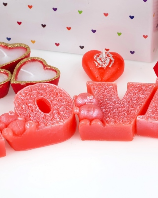 Valentines Day Candles Scents Background for Nokia C1-01