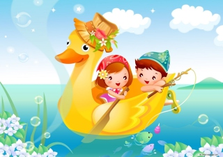 Children In Duck sfondi gratuiti per cellulari Android, iPhone, iPad e desktop