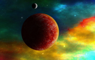 Colorful Space Wallpaper for Android, iPhone and iPad