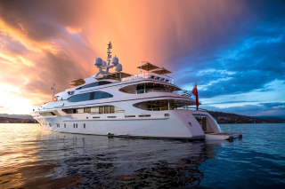 Superyacht In Miami Background for Android, iPhone and iPad