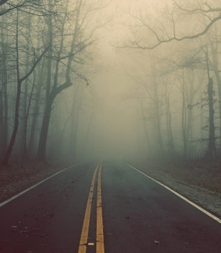 Foggy Road Wallpaper for Nokia Asha 300
