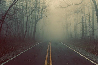 Free Foggy Road Picture for HTC One X