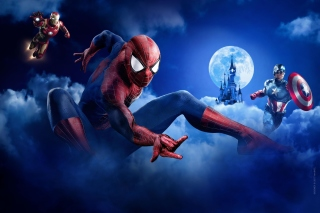 Marvel Super Heroes Wallpaper for 220x176