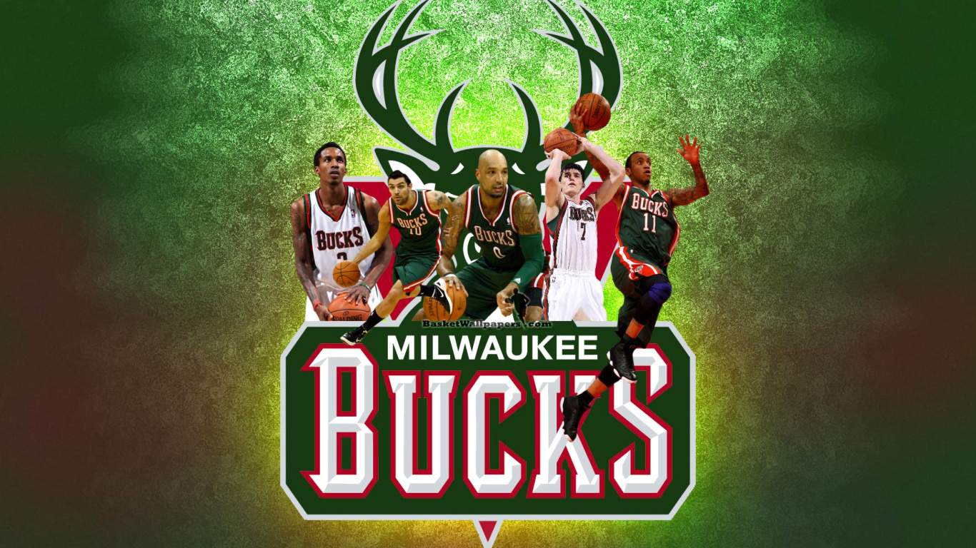Screenshot №1 pro téma Milwaukee Bucks Pic 1366x768