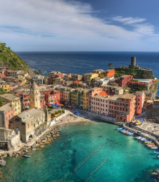 Cinque Terre Italy Wallpaper for Nokia C3-01