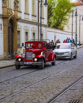 Prague Retro Car Wallpaper for Nokia C2-01