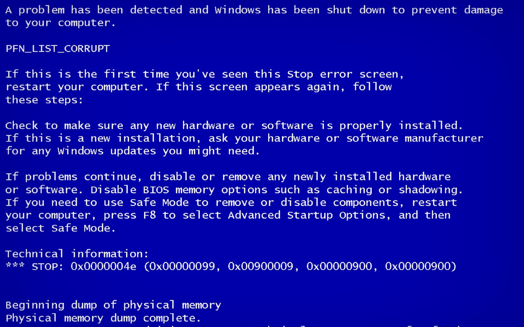 how to get past blue screen of death windows xp