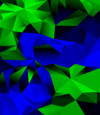 Blue And Green Galaxy S5 Picture for Nokia Asha 305