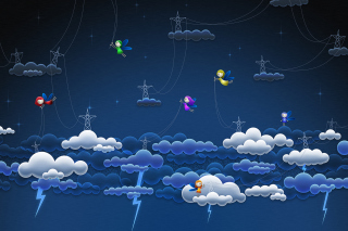 Funny Angels In Sky sfondi gratuiti per cellulari Android, iPhone, iPad e desktop