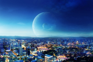 City Night Fantasy sfondi gratuiti per 1920x1200
