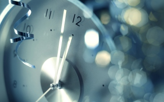 New Year Clock Background for Desktop 1280x720 HDTV