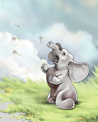 Funny Elephant Wallpaper for 480x800