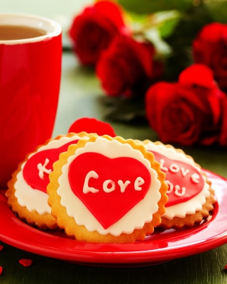 Free Love Biscuits Picture for Nokia Asha 306