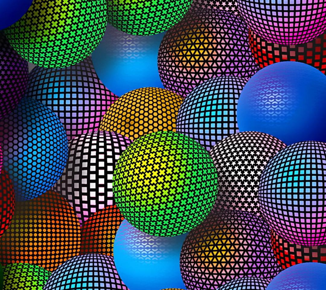 3D Neon Balls para Motorola RAZR XT910