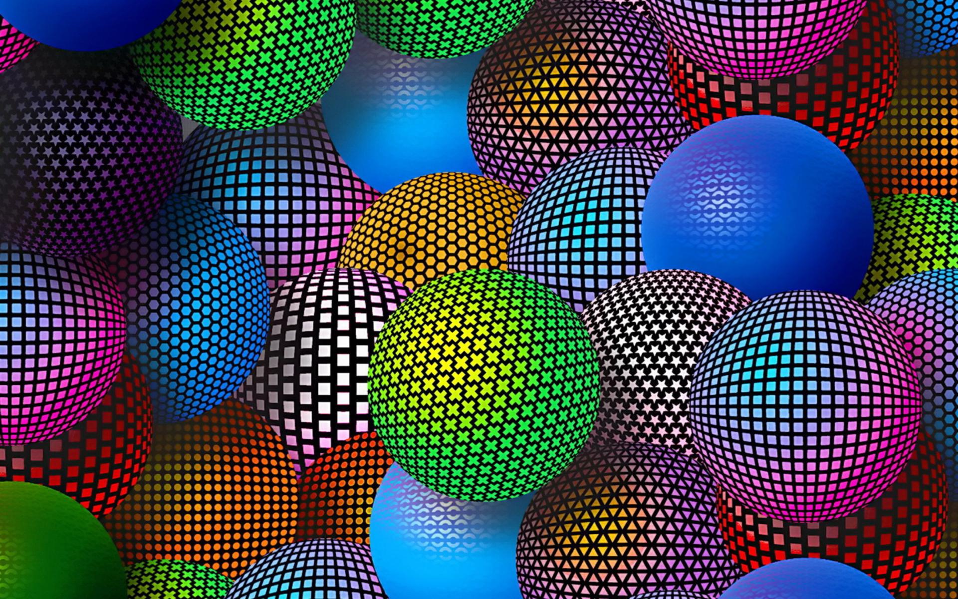 3d Neon Balls Wallpaper For Widescreen Desktop Pc 1920x1080
