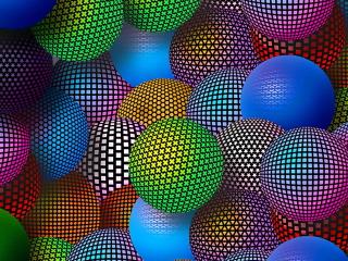 3D Neon Balls para Nokia Asha 201