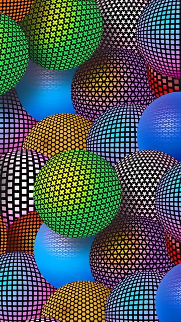 3D Neon Balls para Nokia 5230