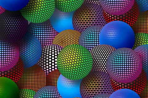 3D Neon Balls para LG E400 Optimus L3