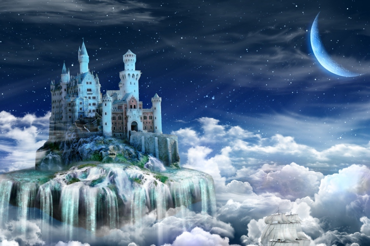 Screenshot №1 pro téma Castle on Clouds