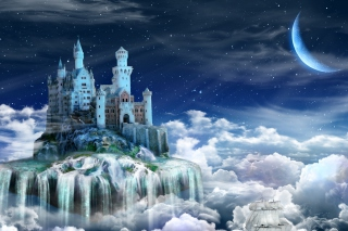 Castle on Clouds - Obrázkek zdarma pro Widescreen Desktop PC 1920x1080 Full HD