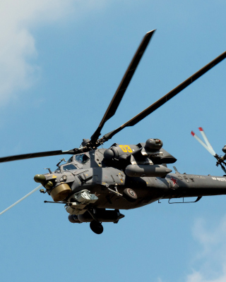 Mil Mi-28 Havoc Helicopter Wallpaper for 240x320