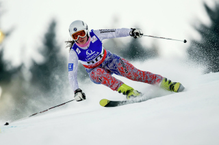 Skiing XXII Olympic Winter Games Background for Android, iPhone and iPad