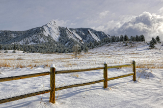Chataqua Snow, Boulder Flatirons, Colorado sfondi gratuiti per cellulari Android, iPhone, iPad e desktop