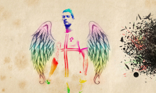 Cristiano Ronaldo Angel Background for Android, iPhone and iPad
