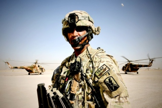 Free Afghanistan Soldier Picture for Android, iPhone and iPad