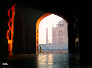 Taj Mahal, India Background for Android, iPhone and iPad