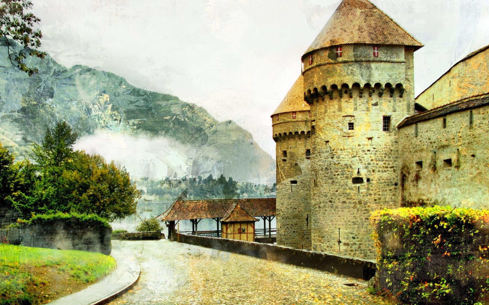 Chillon Castle in Montreux para Widescreen Desktop PC 1920x1080 Full HD