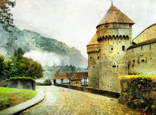 Chillon Castle in Montreux Wallpaper for Android, iPhone and iPad