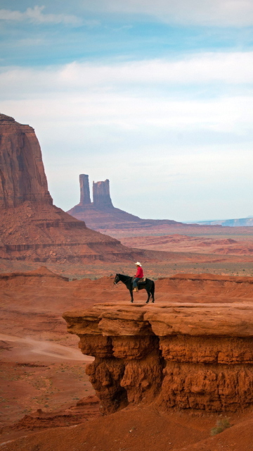 Horse Rider In Canyon