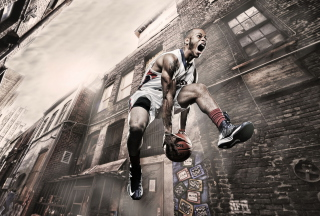 Basketball Player Background for 220x176