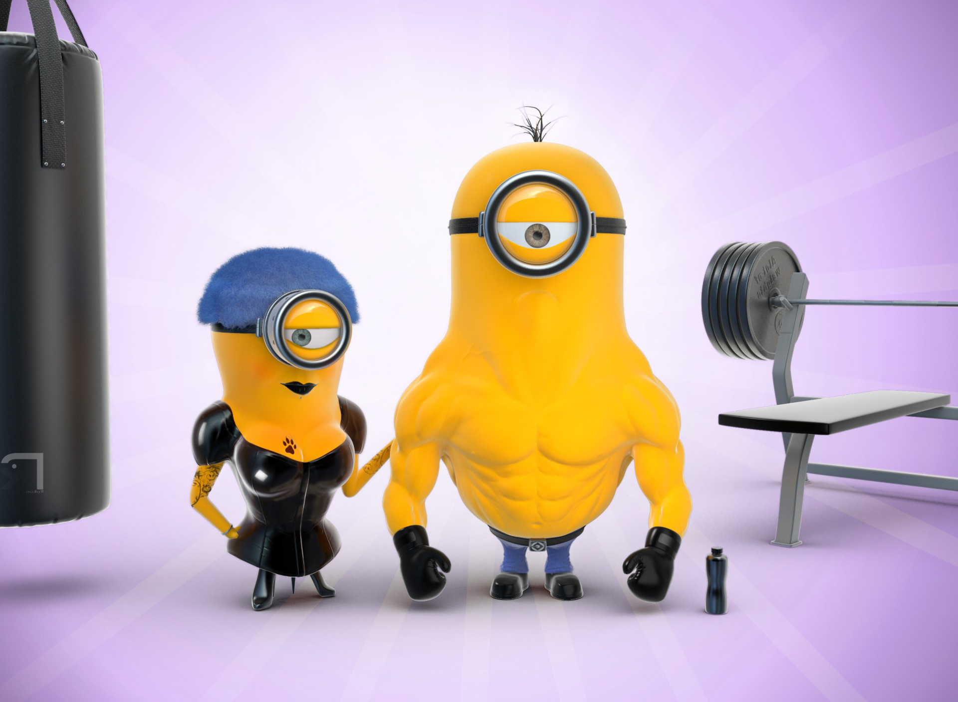 Screenshot №1 pro téma Despicable Me 2 in Gym 1920x1408