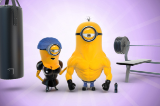 Despicable Me 2 in Gym Background for Samsung Galaxy Tab 10.1