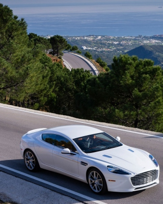 Aston Martin on Highway Background for 240x320