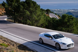 Aston Martin on Highway papel de parede para celular para 1600x900