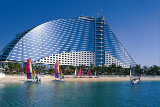 Jumeirah Beach Dubai Hotel Background for Android, iPhone and iPad