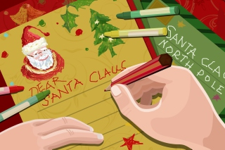 Letter For Santa Claus Wallpaper for Android, iPhone and iPad